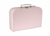 Children´s suitcase 30cm pink with stars