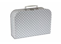 Children´s suitcase 30cm grey with stars