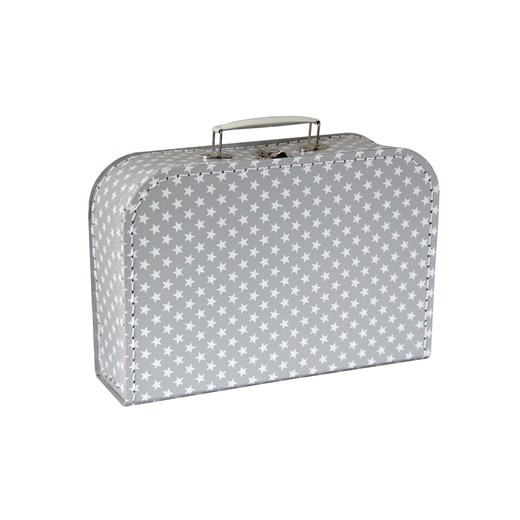 Children´s suitcase 30cm grey with stars