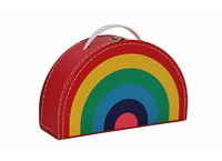 Children´s suitcase 24cm rainbow colour