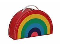 Children´s suitcase 28cm rainbow colour