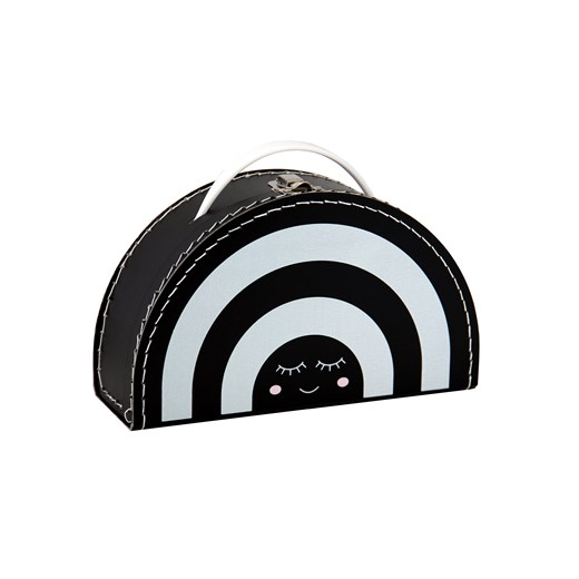 Children´s suitcase 24cm rainbow black and white with face