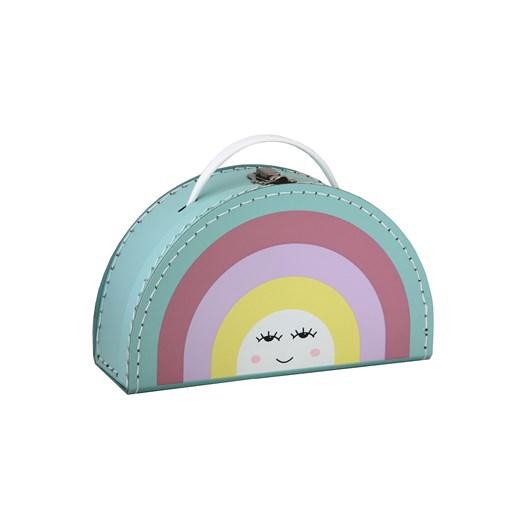 Children´s suitcase 24cm rainbow colour with face