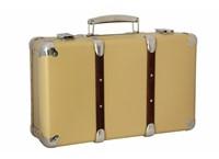 Riveted suitcase 50cm beige-brown