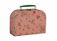 Children´s suitcase 20cm check and flowers
