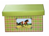 Storage box 41cm horse green