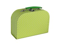 Children´s suitcase 20cm green with dots
