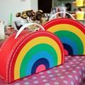 Children´s suitcase 24cm rainbow colour