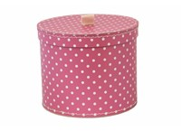 Round box 30cm pink with white dots